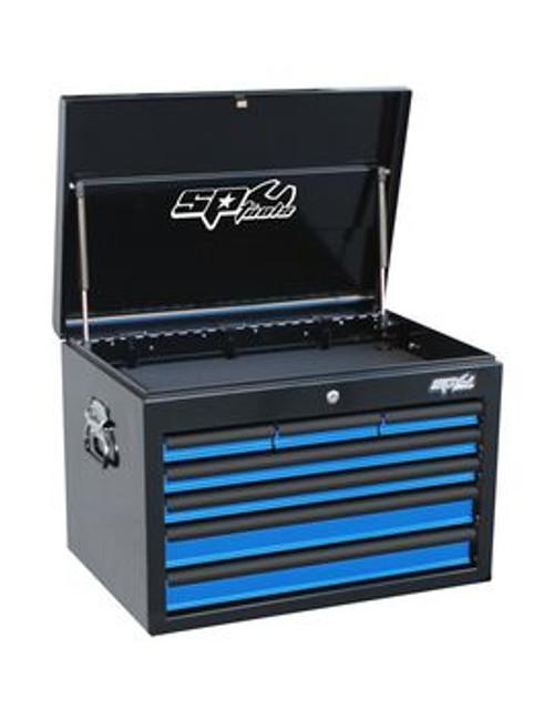 SP Tools 7 Drawer Deep Custom Series Steel Tool Cabinet Blue