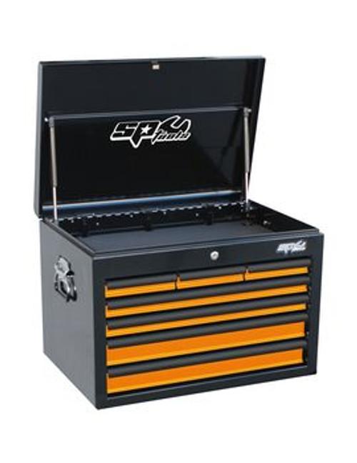 SP Tools 7 Drawer Deep Custom Series Steel Tool Cabinet Orange
