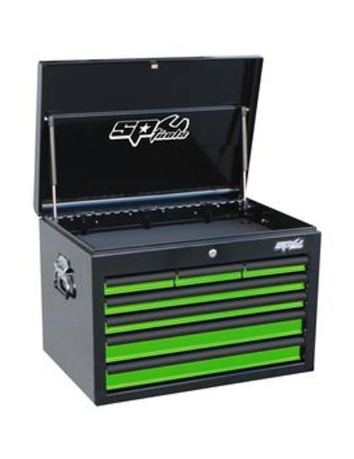 SP Tools 7 Drawer Deep Custom Series Steel Tool Cabinet Green