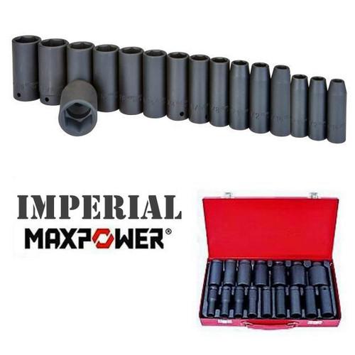 "MaxPower Mega AF Deep Impact Sockets 5/16 to 1-1/4"""