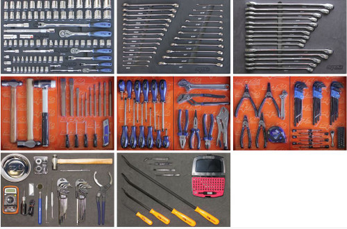SP Tools 347pce Toolkit In Blue Roller Cabinet