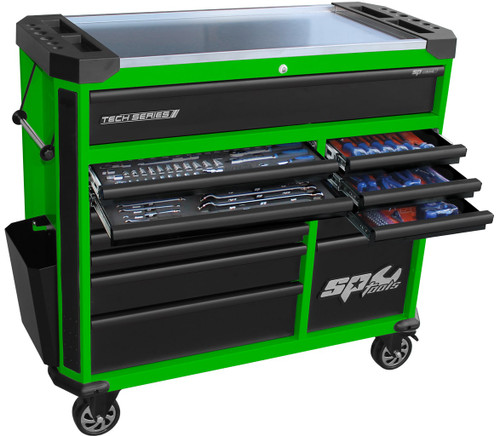 SP Tools 347pce Toolkit In Green Roller Cabinet