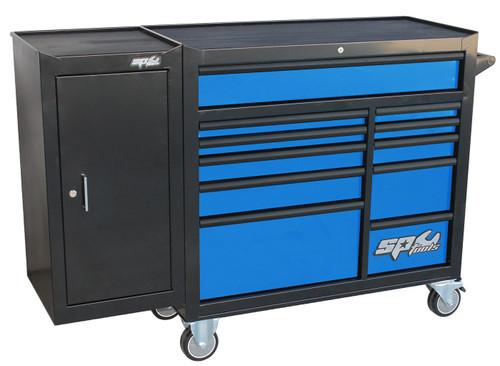 SP Tools 11 Drwr Custom Roller Cabinet Bonus Side Locker Blue