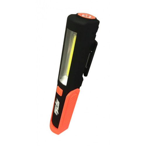 Features: High power COB LED Pivoting mag-base - 180° Swivelling magnetic pocket clip Rechargeable Micro USB charging system Specifications:  Battery:  3.7v 300mAH Lumen: Torch: 80-90 Lumen Work Light: 180-200 Lumen Input Voltage: 5v DC Charging Time: 1 Hour Dimensions (L x W x H): 37mm x 25mm x 175mm