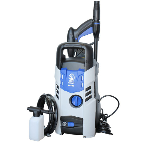 Shipping info: If you are in a rural area there may be a small shipping surcharge. We will contact you by email prior to shipment to inform of any extra charges. Red hot price be quick for this one! SPECIFICATIONS PRESSURE (MAX): 1600PSI FLOW RATE: 6.5 L/min POWER: 1300 Watts HOSE LENGTH: 3 Meters FEATURES • Auto Stop Motor • On-board Storage • Self Priming Pump - will draw water from a bucket • 2 Year Warranty EQUIPMENT INCLUDED • Trigger • Variable Spray Nozzle • Extension Lance • 3m High Pressure Hose with Quick Connect • Detergent Bottle • Transparent Water Filter HIGH QUALITY FULL METAL PUMP • Long Service Life • Aluminium Axial-Cam • Corrosion Resistant • 3 Stainless Steel Pistons • Maintenance Free • Energy Efficient
