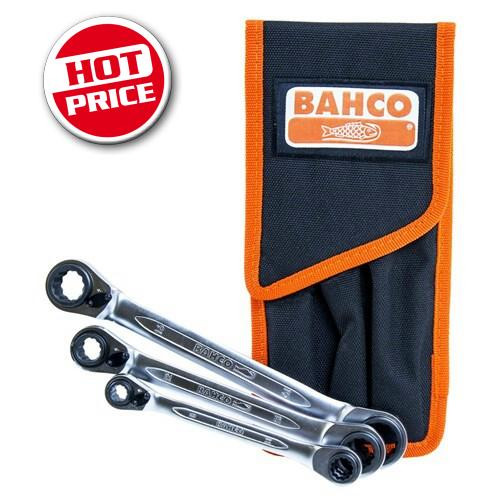 Bahco Reversible Ratchet Spanner Set 8-19mm. Hot Price!