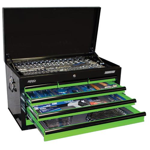 SP Tools 269pc Metric/SAE Tool Kit Green Black. Hot Price!
