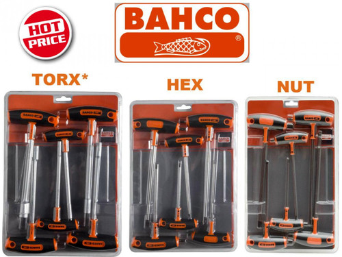 Bahco T Handle Drive Nut Hex Torx* Multi Pack. Hot Price!