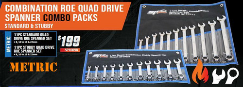 SP Tools Long & Stubby Metric Spanner Duo Pack Hot Price!