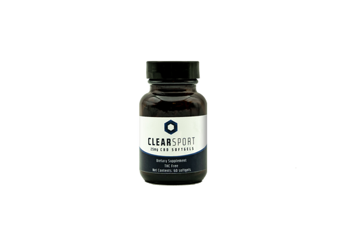Clear Sport CBD Hemp Extract Gel Caps 60 Count