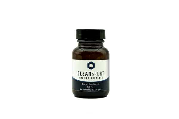 Clear Sport CBD Hemp Extract Gel Caps 30 Count