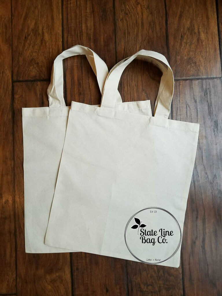 Premium Cotton Tote Bags - 50 Count. Custom printing available.