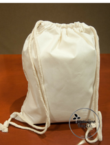 PLAIN Cotton Drawstring Backpacks - 100 Count
