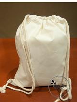 PLAIN Cotton Drawstring Backpacks - 100 Count