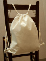 Cotton Drawstring Backpacks - 100 Count