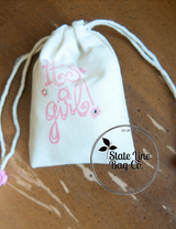 "3.25"" x 5"" Premium Double - Drawstring Cotton Muslin Bags - Custom Printing Available!"
