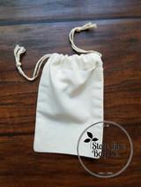 "4"" x 6"" Premium Double - Drawstring Cotton Muslin Bag"