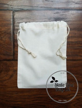 "5"" x 7"" Premium Double - Drawstring Cotton Muslin Bag"