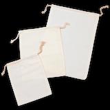 "8"" x 16"" Premium Double - Drawstring Cotton Muslin Bag"