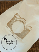 "10"" x 12"" Premium Double - Drawstring Cotton Muslin Bags  - Custom Printing Available!"