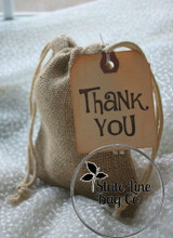 "4"" x 6"" Burlap Bag Double - Drawstring State Line Bag Company"