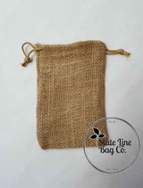 "6"" x 8"" Burlap Bag Double - Drawstring"