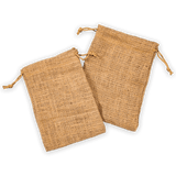 "6"" x 8"" Burlap Bag Double - Drawstring Natural Bags - Custom Printing Orders Welcome!"