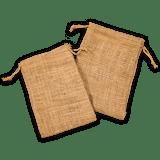 """6"""" x 8"""" Burlap Bag Double - Drawstring Natural Bags - Custom Printing Orders Welcome!"""
