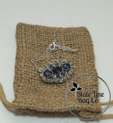 "6"" x 10"" Burlap Bag Double-Drawstring - 100 Count"