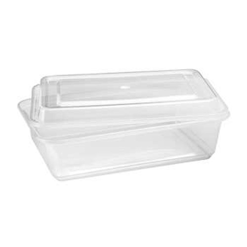 Café Express 42-oz Rectangular Containers with Lids Pack of 50