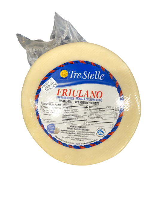 Tre Stelle Friulano Firm Ripened Cheese ~2.6kg