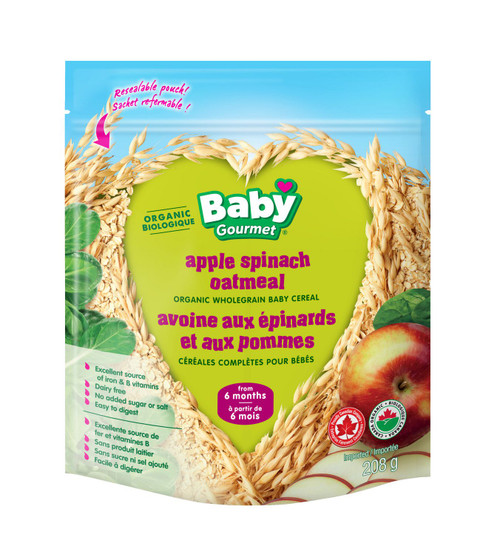 Baby Gourmet Apple Spinach  227g