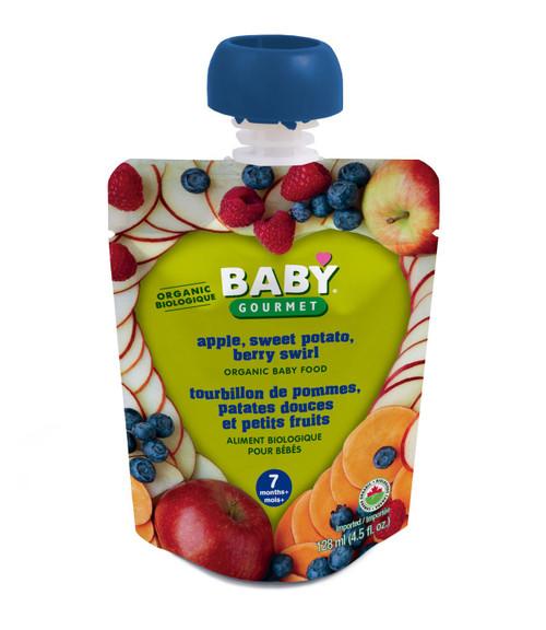 Baby Gourmet Apple Sweet Potato Berry Swirl Organic 128mL