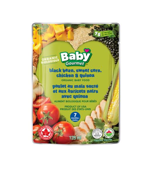 Baby Gourmet Black Bean, Sweet Corn, Chicken & Quinoa  128mL