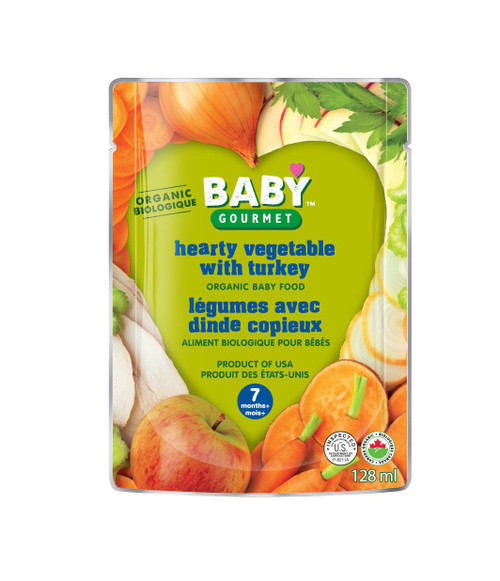 Baby Gourmet Hearty Vegetables with Turkey Organic 128mL