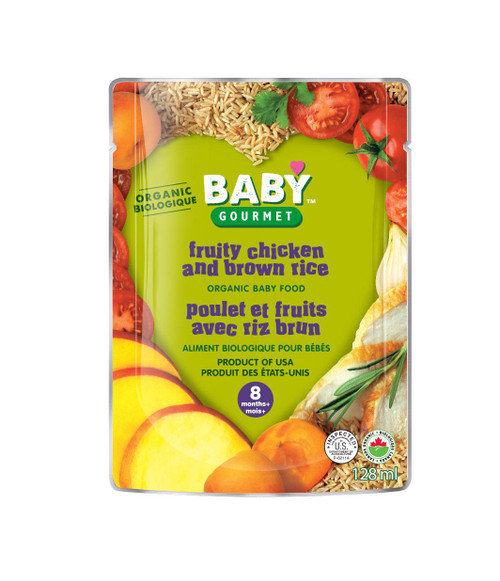 Baby Gourmet Fruity Chicken and Brown Rice 128mL