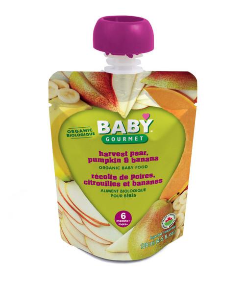 Baby Gourmet Harvest Pear, Pumpkin & Banana 128mL