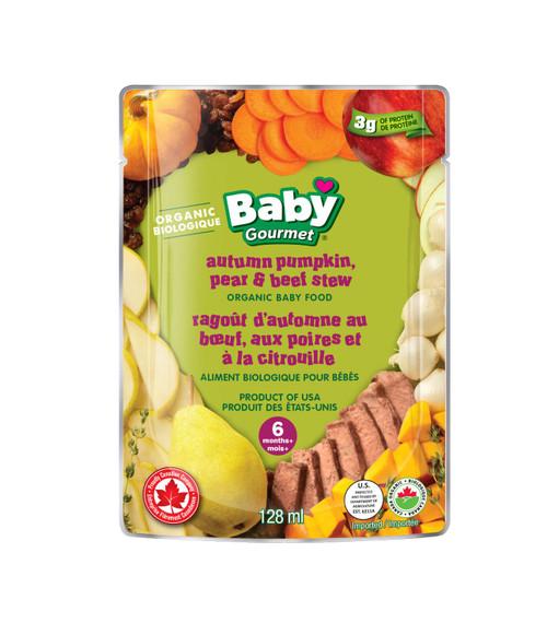 Baby Gourmet Organic Autumn Pumpkin, Pear & Beef Stew 128mL