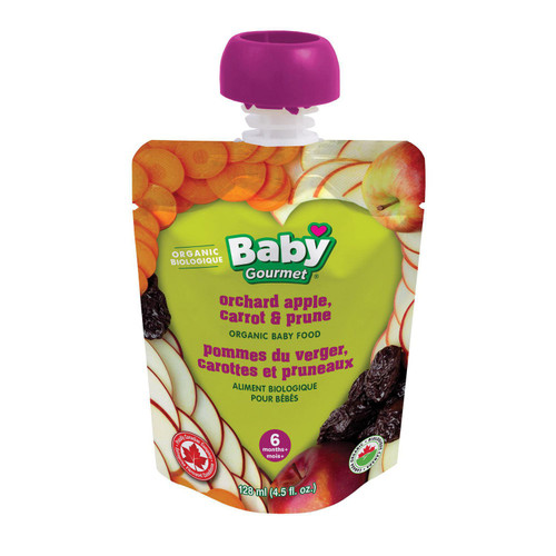 Baby Gourmet Organic Orchard Apple, Carrot And Prune  128mL