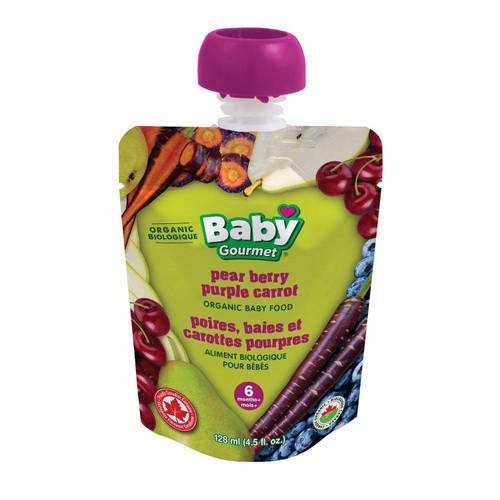Baby Gourmet Pear berry purple carrot puree 128mL