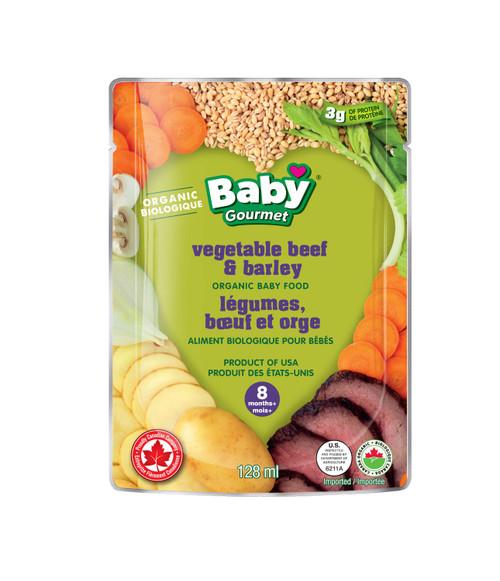 Baby Gourmet Vegetable Beef & Barley Organic 128mL