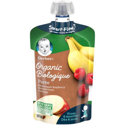 GERBER Organic Pur_e, Banana Apple Raspberry 128mL