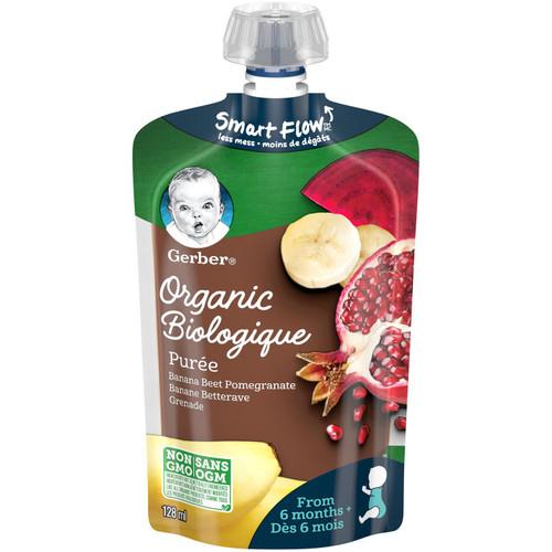 GERBER Organic Pur_e, Banana Beet Pomegranate 128mL