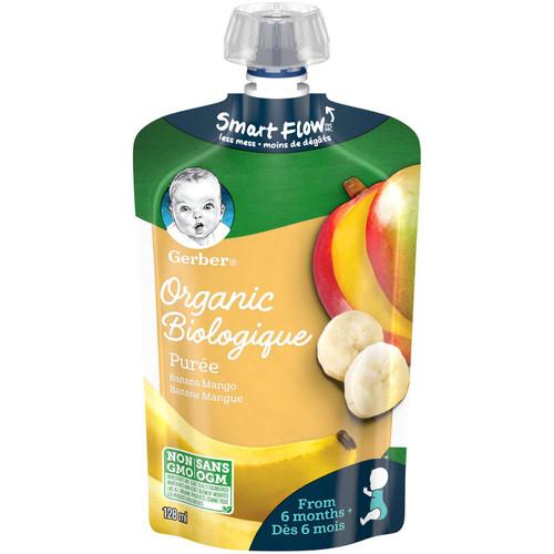 GERBER Organic Pur_e, Banana Mango 128mL