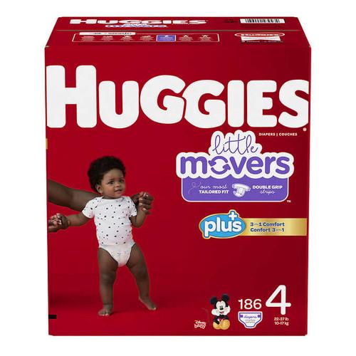 Huggies Plus Size 4 Diapers Pack of 186