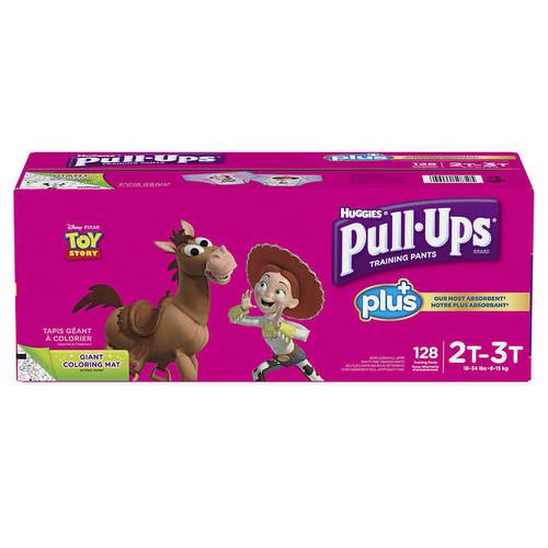 Huggies Pull-Ups Plus Training Pants 2T - 3T Girl Pack of 124