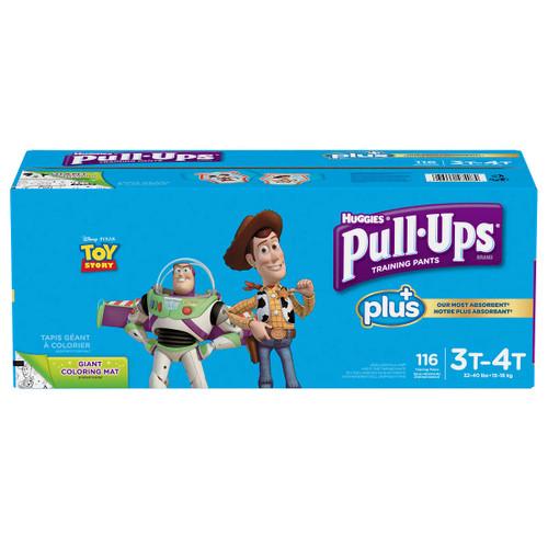 Huggies Pull-Ups Plus Training Pants 3T - 4T Boy Pack of 116