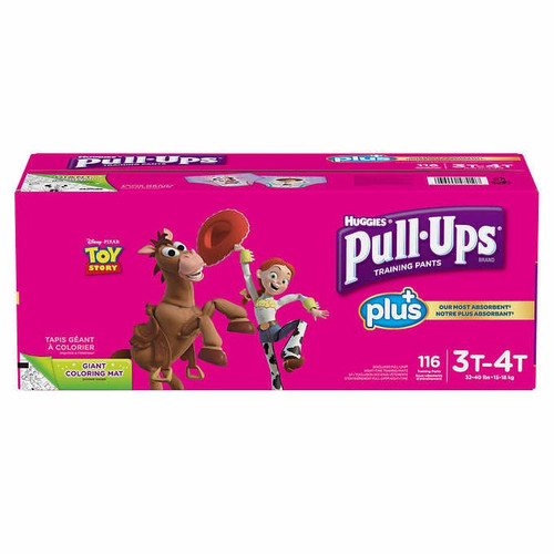 Huggies Pull-Ups Plus Training Pants 3T - 4T Girl Pack of 116