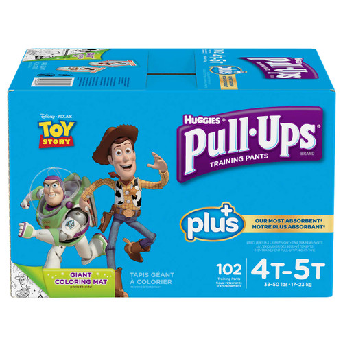 Huggies Pull-Ups Plus Training Pants 4T - 5T Boy Pack of 102