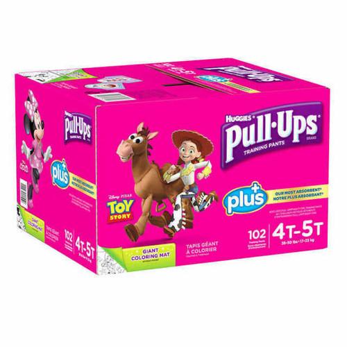 Huggies Pull-Ups Plus Training Pants 4T - 5T Girl Pack of 102